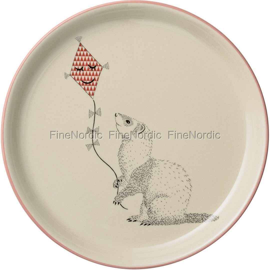 Bloomingville Plate Mollie - Squirrel - Nude / Off White