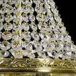 Krystal-Lysekrone - Basket med 3 lys - Guldfinish - Swarovski Krystal