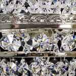 Krystal-Lysekrone - Basket med 3 lys - Sølvfinish - Swarovski Krystal