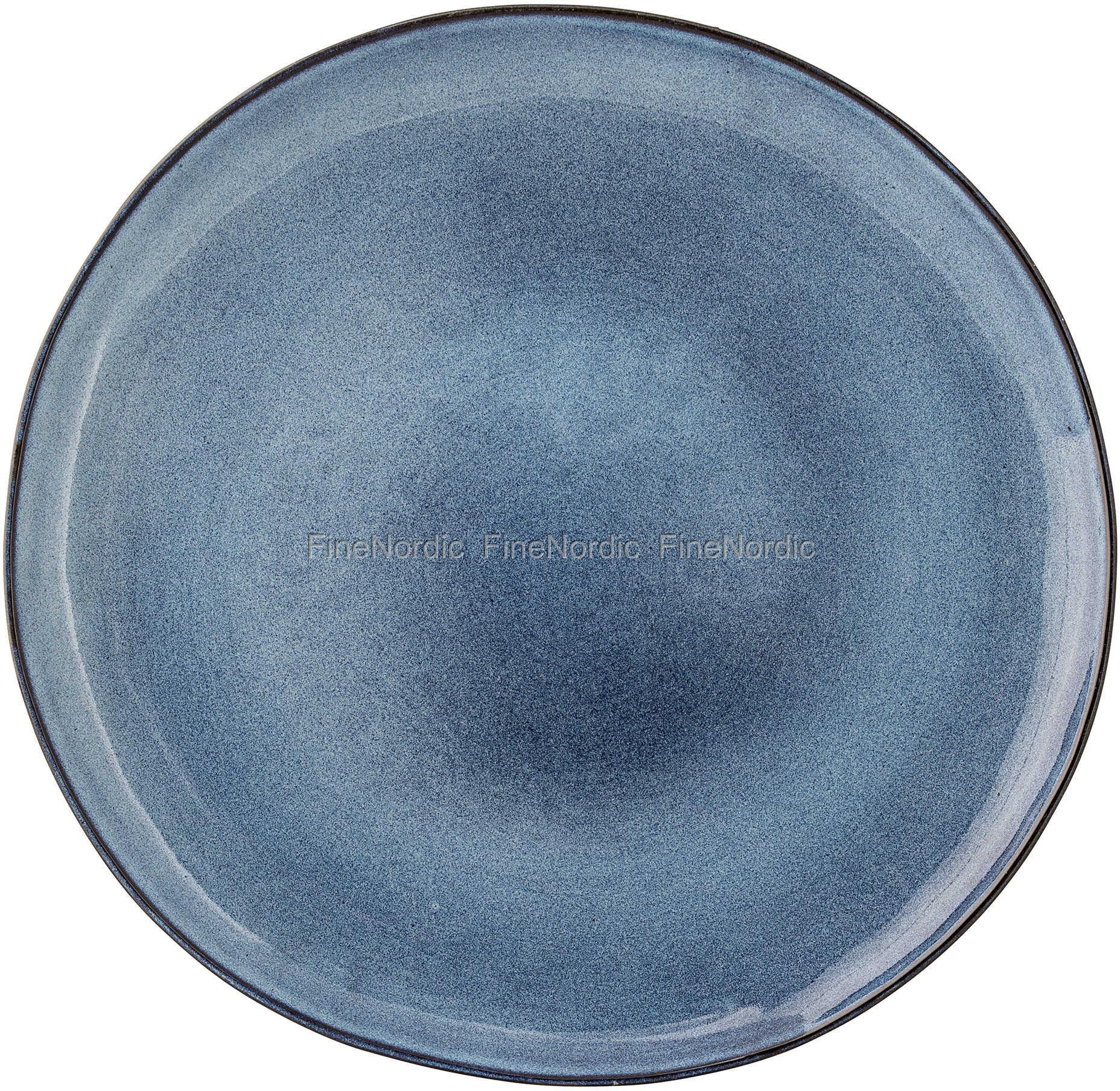 keramik tallerken Bloomingville Sandrine Keramik Tallerken Blå 28,5 cm keramik tallerken