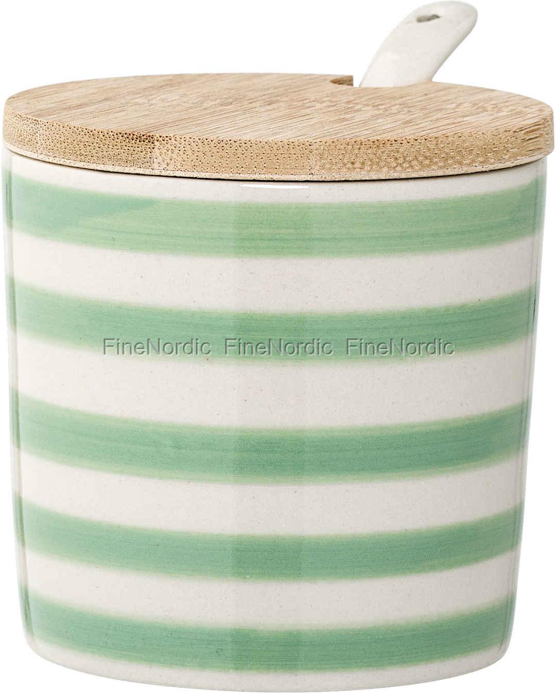 290811daf55 Bloomingville Patrizia Krukke med Låg og Ske Porcelæn Grøn