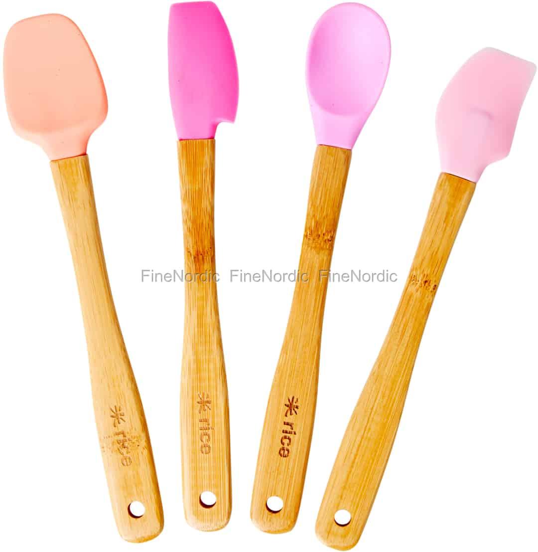 55133dbc0ce Rice Silikone Køkkenredskaber - Assorteret Farver - Small - Sæt med 4